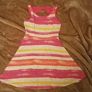 Justice brand girls striped sundress size 7